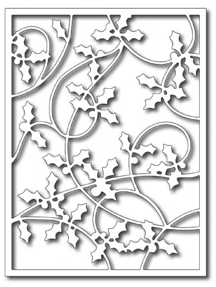 FRA-DIE-09289  HOLLY CARD PANEL ~ die from FRANTIC STAMPER